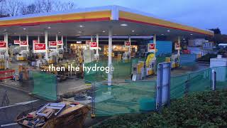 Shell Beaconsfield Hydrogen Pump Installation Time Lapse Video