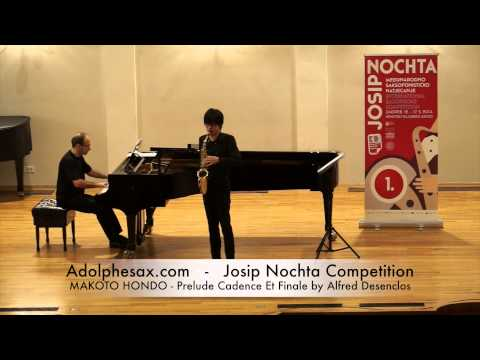 JOSIP NOCHTA COMPETITION MAKOTO HONDO Prelude Cadence Et Finale by Alfred Desenclos