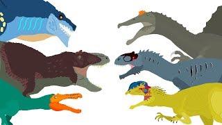 Dinosaurs cartoons battles - DinoMania- compilation 2018 | Godzilla vs Zilla Cartoons