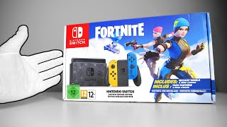 Nintendo Switch Fortnite Console 2 Unboxing [Special Edition] Wildcat Bundle