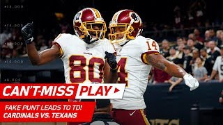 Redskins Fake Punt Play Leads to Kirk Cousins' 40-Yd TD Pass! | Can't-Miss Play | NFL Wk 11