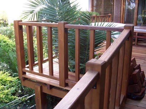 Barandas de madera del muebles de madera - Terrazas de madera rusticas ...