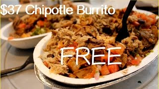 Life Hack: $37 Chipotle Burrito for Free?