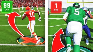 Can a 99 Overall Player Score a 99 Yard Touchdown Before A 1 Overall Scores a 1 Yard Touchdown?