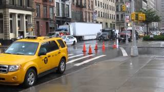 Movie filming in New York City