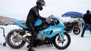 5 Speed World records at Bonneville Salt Flats with BMW S1000RR