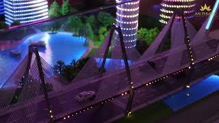 Mô hình chiếu sáng kiến trúc Facade của An Phước tại VietBuild 2019