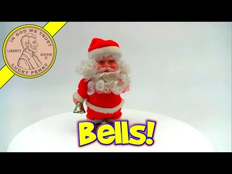 Vintage Santa Claus Shuffling Bell Ringer Toy Kids Toy Reviews