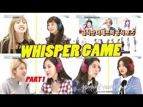 Red Velvet + Twice - Best of Whisper Challenge/Shout in Silence Game [Weekly Idol] Part 1