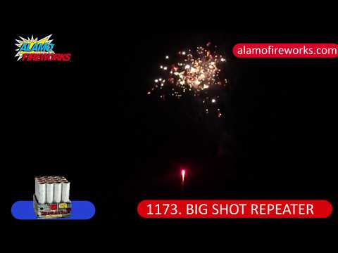 1173 Big Shot Repeater - Alamo Fireworks
