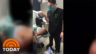 Dentist Caught On Camera Riding Hoverboard While Pulling Patient's Tooth | TODAY