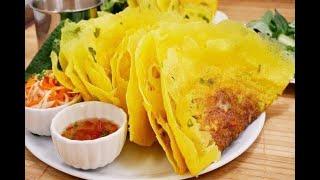 Bánh Xèo giòn - Cách tự Ngâm Gạo xay, cách pha Bột đổ Bánh Xèo rìa mỏng giòn Miền Nam by Vanh Khuyen