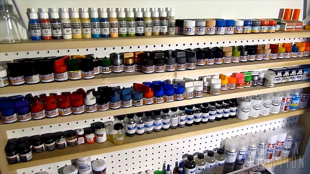 garage workbench plans ideas - GunPla Fixation Hobby Paint Rack