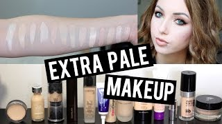 13 FOUNDATIONS FOR SUPER PALE / VERY FAIR SKIN & SWATCHES | Makeup That's Too Light for Me!