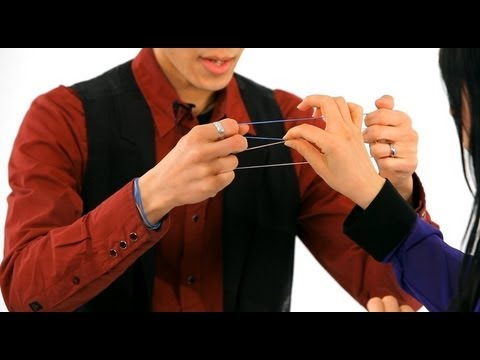 How To Do The Linking Rubber Band Trick Magic Tricks