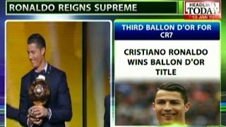 HLT : Ronaldo Leaves Messi,in Shade With Third Ballon D'Or..