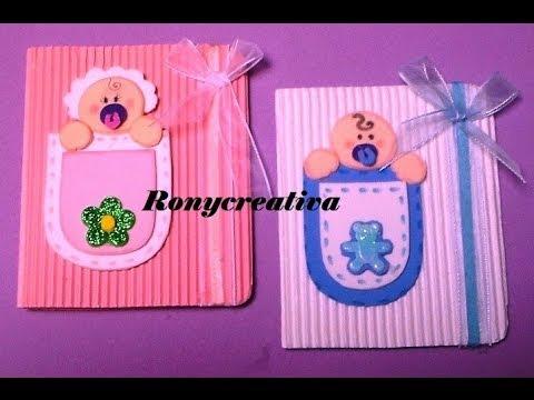 Como hacer invitaciónes para baby shower en foamy - Imagui