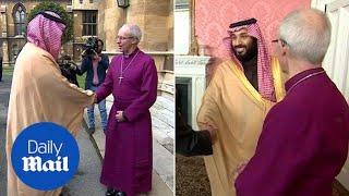 Saudi Crown Prince meets Archbishop of Canterbury during UK visit - Daily Mail