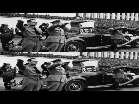 Вторая мировая война в 3D (вертикальная анаморфная стереопара)