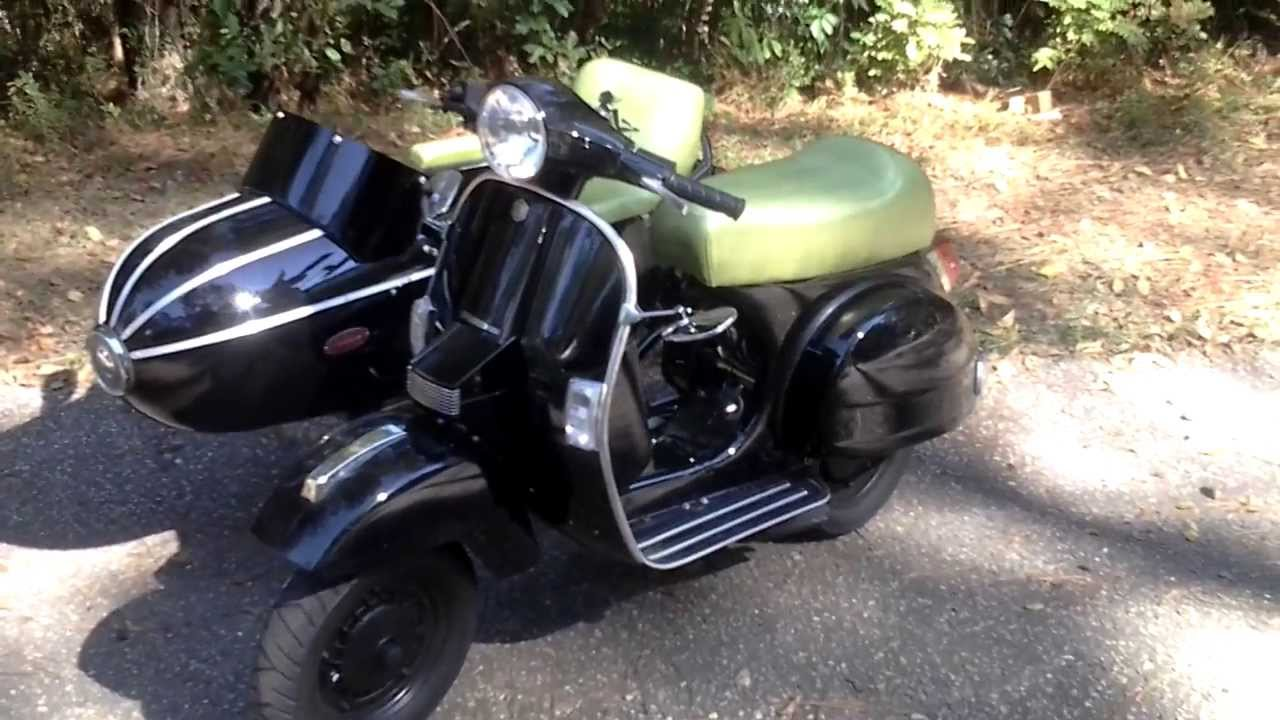 genuine scooter stella with sidecar custom youtube. Black Bedroom Furniture Sets. Home Design Ideas