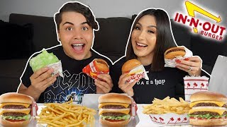 MASSIVE IN N OUT MUKBANG! (eating show)