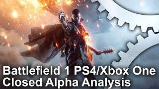 Battlefield 1 - Alpha PS4/Xbox One/PC Graphics Comparison
