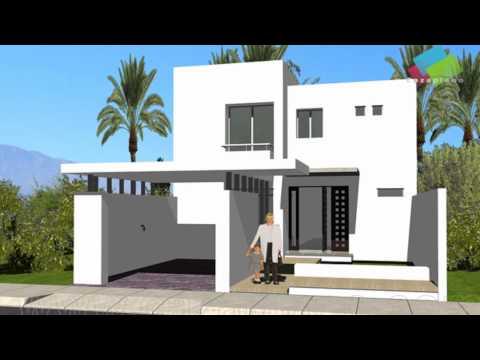 Video planos de casas con fachadas for Casa moderna minimalista interior 6m x 12 50m