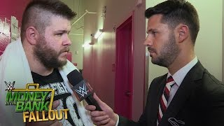 A brutal encounter causes Kevin Owens to lash out backstage: June 19, 2016