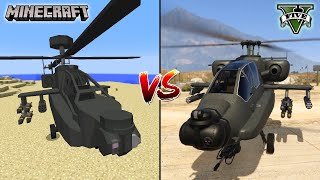 MINECRAFT HELICOPTER VS GTA 5 HELICOPTER - WHICH IS BEST?