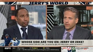 ESPN FIRST TAKE | Stephen A. Smith & Max DEBATE Cowboys: Whose side are you on Jerry Jones or Zeke?