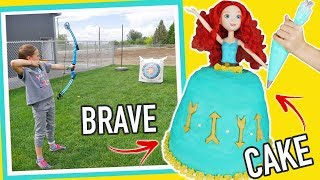 Princess Dress Cake Using BRAVE Merida Toy Doll | Cake Decorating For Kids