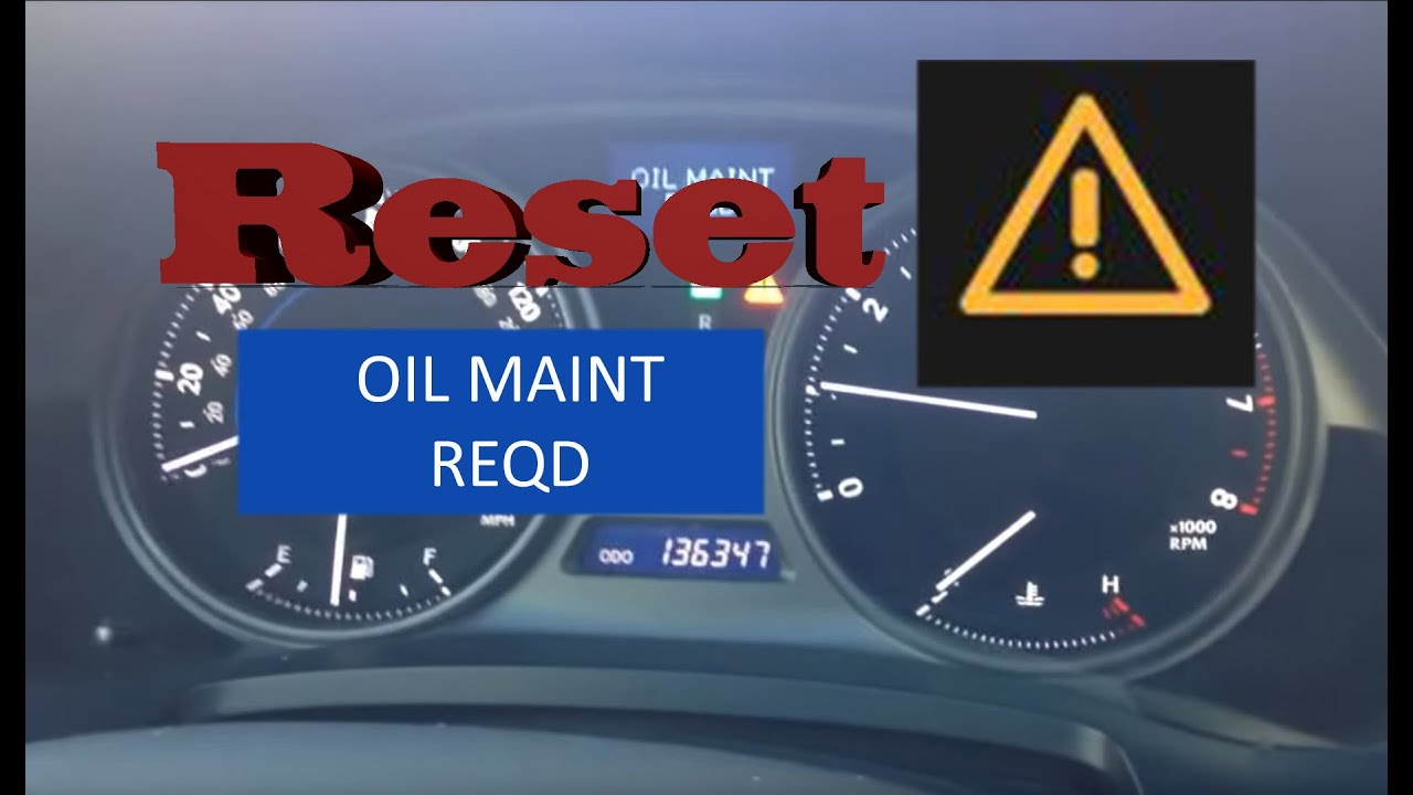 lexus rx350 2014_How to Reset Oil Maintenance Required Light in 2006-2014 Lexus IS250 - YouTube