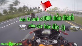 Honda CBR1000RR vs Kawasaki Z1000 cuộc rượt đuổi tốc độ, xem mà muốn nín thở