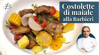 Costolette di maiale al forno   Chef BRUNO BARBIERI