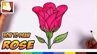 איך לצייר ורד