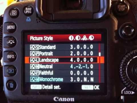 Optimum Camera Settings For Canon Youtube