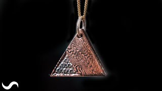 MOKUME GANE PENDANT!!! Copper and Nickel Damascus!