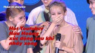 Hot Youtuber Hậu Hoàng xúc động sau khi nhảy xong cuộc thi showcase Rise as one