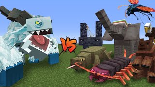 Frostmaw (Mowzie's Mobs) vs Alex's Mobs (Minecraft Mod Showcase) 1vs100