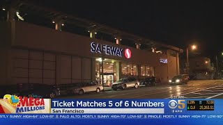 Mega Millions Ticket That Matched 5 Out Of 6 Sold In San Francisco