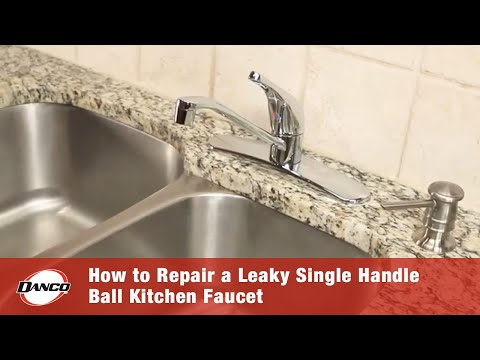 DANCO HOW TO | Repairing A Leaky Single Handle Ball Kitchen Faucet ...