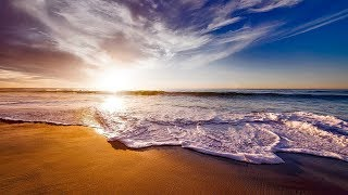 Ocean Waves With Piano Music - Calm Piano Relaxing Music