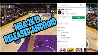 Nba 2k19 Android Released!!! Nba 2k19 Mobile Gameplay