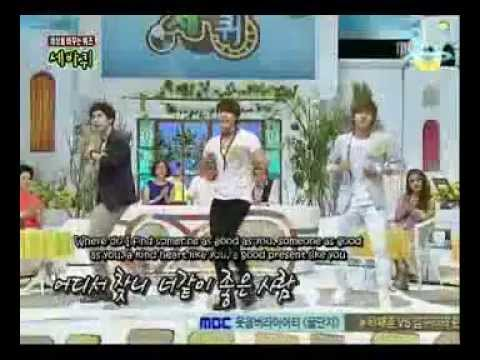 Donghae, Yesung and Kyuhyun dancing No Other