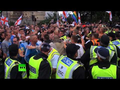 В Лондоне произошли столкновения между националистами и полицией