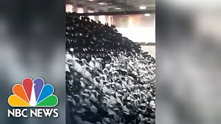 Watch: Bleachers Collapse During Jewish Festival In West Bank Synagogue