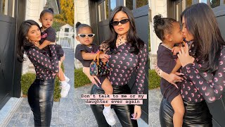She ready!!! Kylie & Stormi 'cute'😎 attends #ChicagoWest birthday party 🎂🎉💕