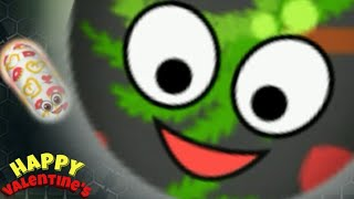 Wormate.io Legendary Best Troll Worm Vs Giant Monster Worm Epic Wormate.io Gameplay Valentine's!!