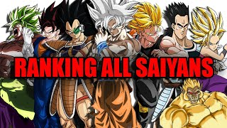 Every Saiyan From Weakest To Strongest