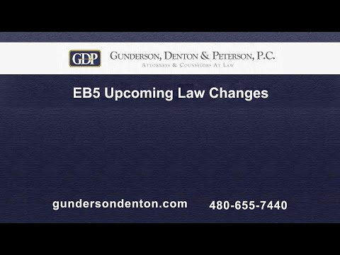 EB5 Upcoming Law Changes | Mark Egan